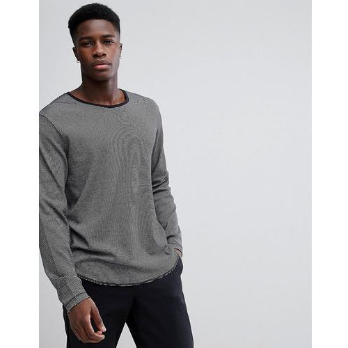 boule striped long sleeve t-shirt - black, Weekday, S-L