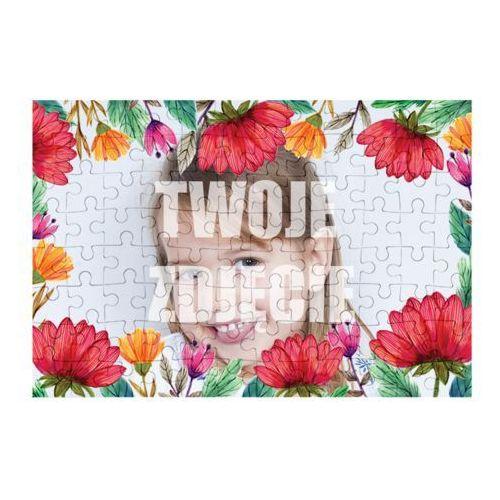 Puzzle Kwiaty 3 + Twoje zdjęcie