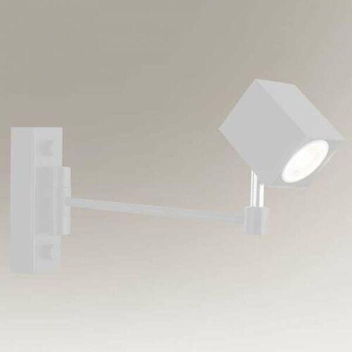 Shilo Regulowana lampa kinkiet inabe 7799 metalowa oprawa ścienny reflektorek kwadratowy biały