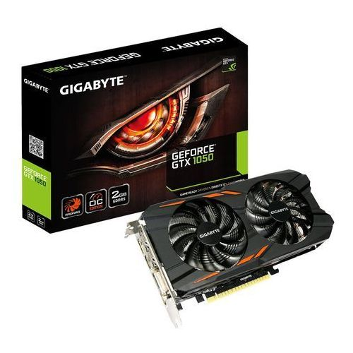 Karta graficzna Gigabyte GeForce GTX 1050 Windforce OC 2GB GDDR5 (128 Bit) DVI-D, 3xHDMI, DP, BOX (GV-N1050WF2OC-2GD) Szybka dostawa! Darmowy odbiór w 20 miastach!, GV-N1050WF2OC-2GD