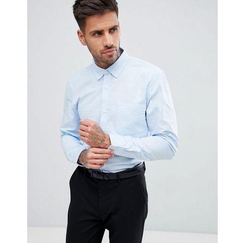 Pull&Bear Regular Fit Oxford Shirt In Light Blue - Blue, w 4 rozmiarach