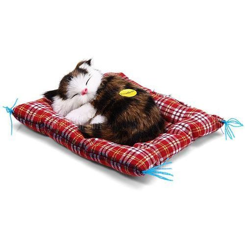 Simulation sleeping cat toy with cloth pad marki Gearbest