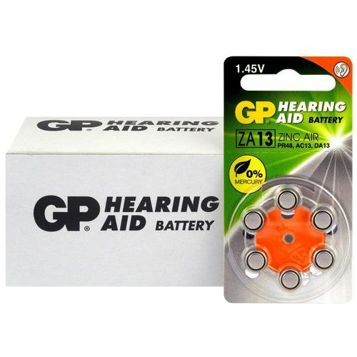 60 x baterie do aparatów słuchowych GP 13 / ZA13 / PR48