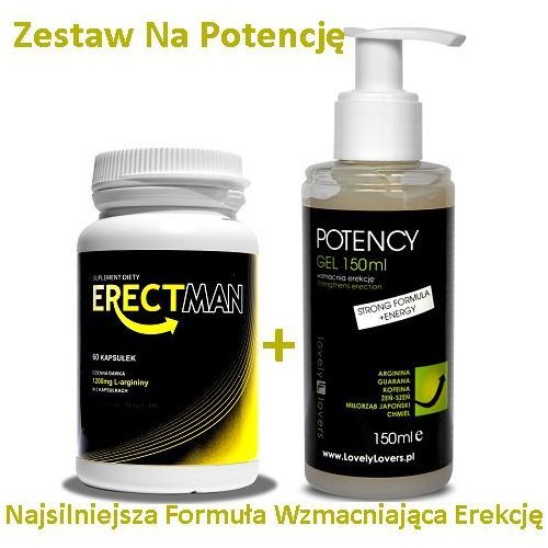 Lovely lovers Erectman 60 kaps. + potency żel 150 ml zestaw na silną erekcję i potencję