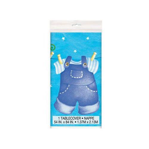 Obrus urodzinowy na Baby Shower dla chłopca - 137x213 cm - 1 szt.