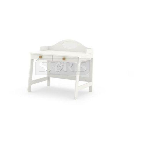 Drewnostyl pinio Pinio parole biurko mdf białe - brązowy uchwyt - 016-505-058