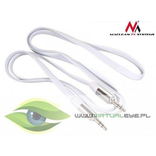 przewód jack 3.5mm, płaski 2m, metalowy wtyk, white maclean mctv-695 w marki Maclean
