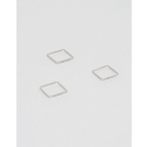 construct rings in 3 pack - silver marki Cheap monday