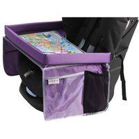TULOKO Bezpieczny stolik podróżnika z mapą Europy, fioletowy (5903111233259)