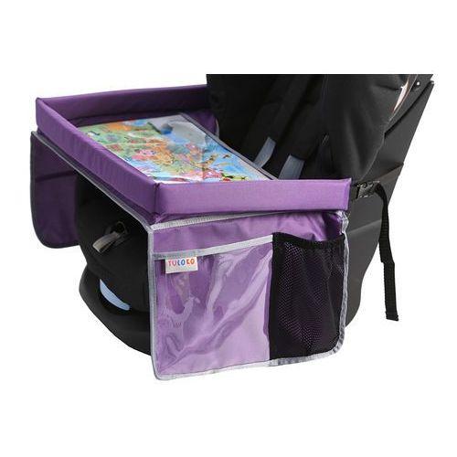 Tuloko bezpieczny stolik podróżnika z mapą europy, fioletowy