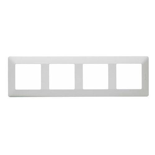 Ramka poczwórna Legrand Valena Life aluminium, kolor biały