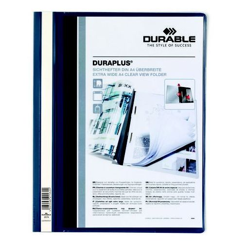 Skoroszyt plastikowy Durable DURAPLUS A4 granatowy