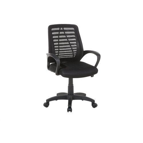 Beliani Krzesło biurowe czarne regulowana wysokość mayor