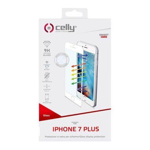 Szkło hartowane  do iphone 7 plus biała ramka glass801wh marki Celly
