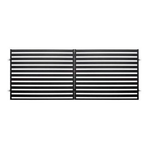 Polbram steel group Brama dwuskrzydłowa lara 2 4 x 1 54 m czarna