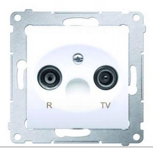 Gniazdo R-TV przelotowe białe DAP10.01/11 SIMON54 (5902787825003)