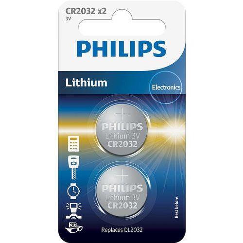 Bateria PHILIPS CR2032 (2 szt.) + Zamów z DOSTAWĄ JUTRO!, CR2032P2/01B