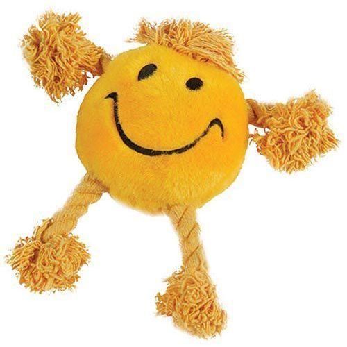 Żółta maskotka - happy faces z piszczałką marki Happypet