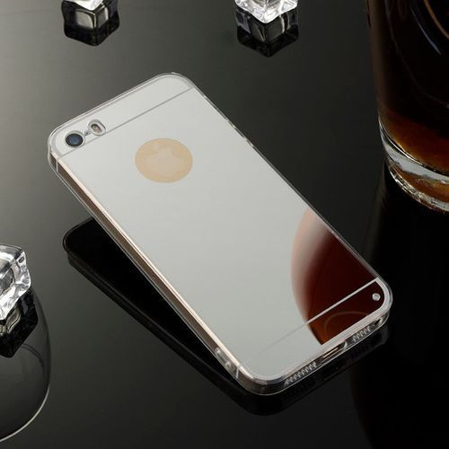 case srebrny | etui dla apple iphone 5 / 5s / se - srebrny, marki Slim mirror