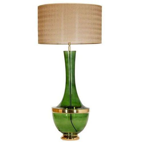 Salonowa LAMPA stołowa TROYA L232272317 4Concepts abażurowa LAMPKA stojąca vintage złota zielona, kolor Złoty