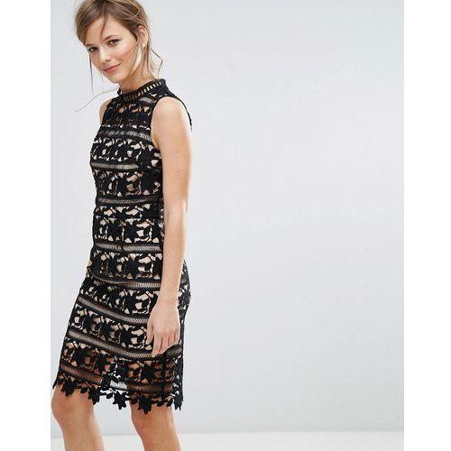 lace sleeveless bodycon dress - black marki New look