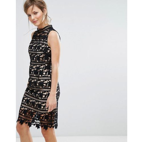 New Look Lace Sleeveless Bodycon Dress - Black