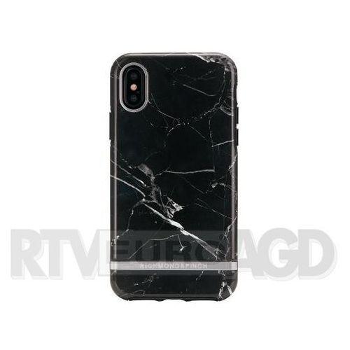 Richmond & Finch Black Marble - Silver Details iPhone X/Xs (7350076894380)