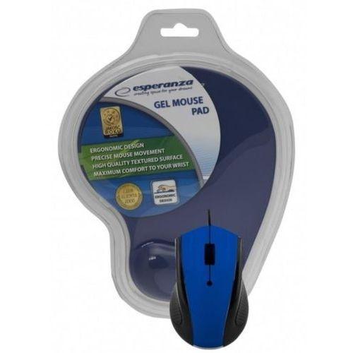 przewodowa mysz optyczna z podkładką żelową em125b marki Esperanza
