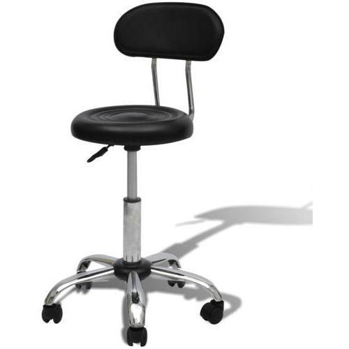 profesjonalne krzesło do salonu spa z oparciem, czarne od producenta Vidaxl
