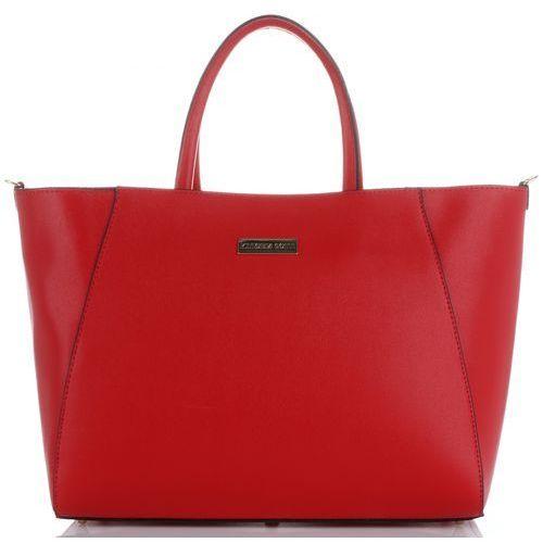 1b57a80a0750a Vittoria gotti torebki skórzane duży firmowy włoski kufer w rozmiarze xxl  czerwone (kolory)