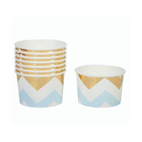 Pucharki kubeczki do lodów Zygzaki niebieskie - 8 szt. (5060495971716)