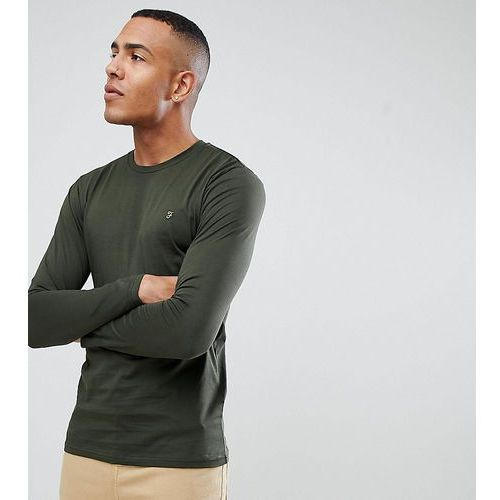 Farah Farris slim fit long sleeve t-shirt with stretch in green - Green