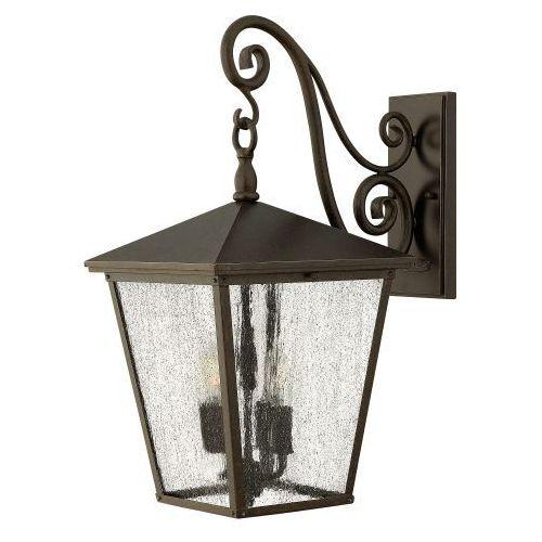 Hinkley Zewnętrzna lampa ścienna trellis hk/trellis2/s elstead klasyczna oprawa do ogrodu outdoor ip44 brąz przezroczysta (5024005241416)
