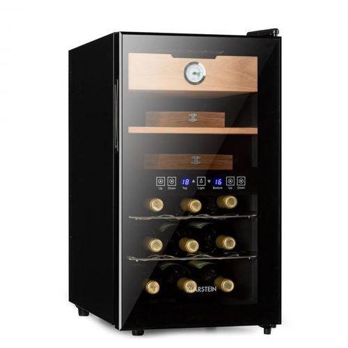 el dorado, humidor i winiarka, 100 w, ekran dotykowy, 48 l, led, czarny marki Klarstein