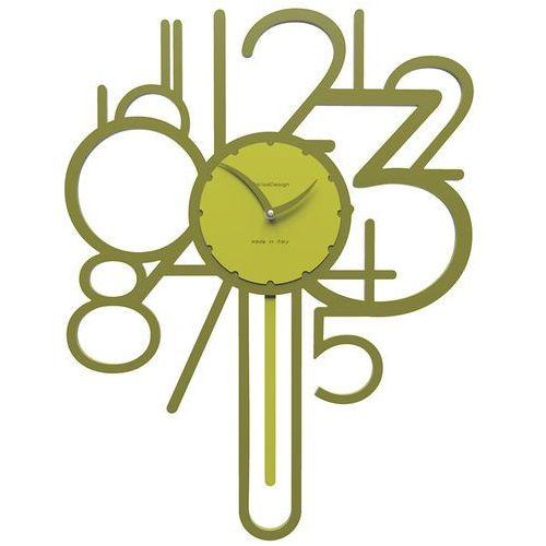 Calleadesign Zegar ścienny z wahadłem joseph oliwkowo-zielony (11-002-54)