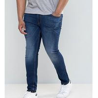 River island big and tall skinny jeans in dark wash - blue