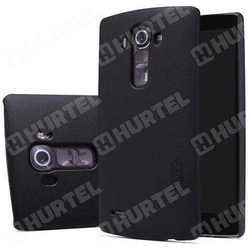NILLKIN etui Super Frosted Shield LG G4 H815 czarne + folia ochronna - Czarny (Futerał telefoniczny)