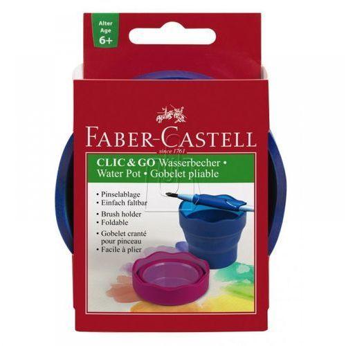 Faber castell Pojemnik na wodę click&go niebieski (4005401815105)