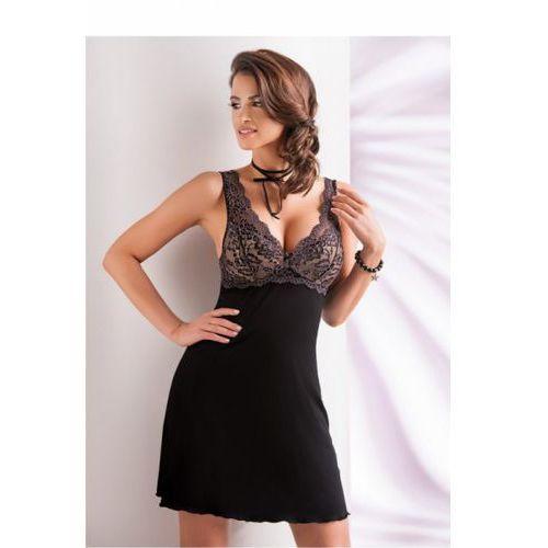 Koszula nocna model laila (miseczki usztywniane) black, Donna