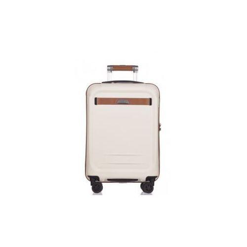 PUCCINI walizka mała/ kabinowa PC020 kolekcja STOCKHOLM 4 koła twarda zamek szyfrowy TSA materiał policarbon, PC020C