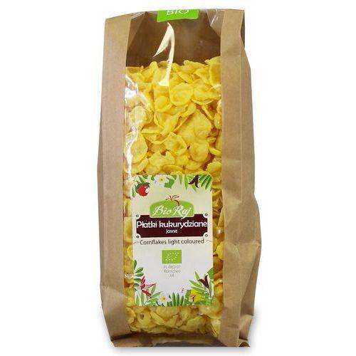 Płatki kukurydziane jasne bio 200 g bio raj marki Bio raj (konfekcjonowane)
