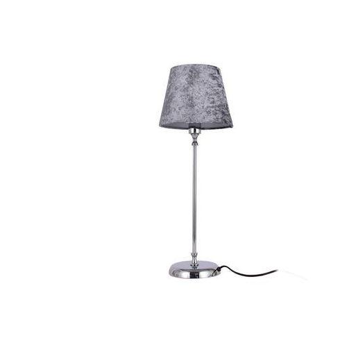 Lampa stojąca w urokliwym stylu DIANA - metal i welur - 52x19x19 cm - kolor szary