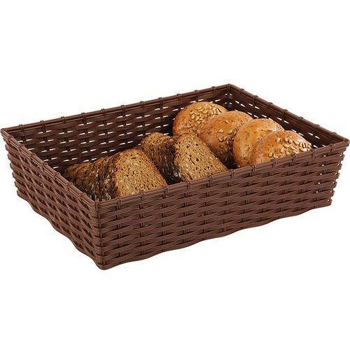 Aps Koszyk prostokątny do chleba lub owoców 395x295x100 mm, brązowy | , wicker look