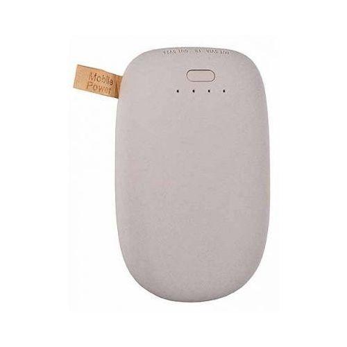 Bateria zewnętrzna power bank tel1 stone 10400mah szary marki Telone