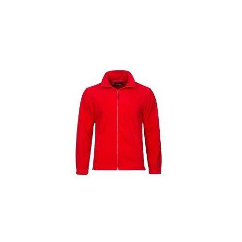 Polar męski w kolorze czerwonym bluza polarowa 300g marki Valento