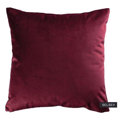 Fargotex Selsey poduszka dekoracyjna sylvanca w tkaninie easy clean 45x45 cm burgundowa