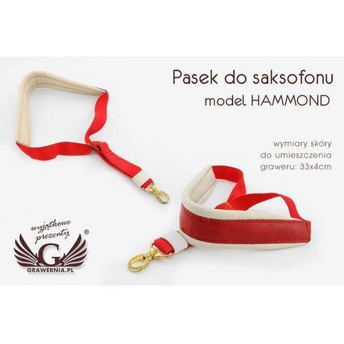 Pasek do saksofonu biało-czerwony - model: hammond - wersja komfort - pds11 marki Grawernia.pl - grawerowanie i wycinanie laserem