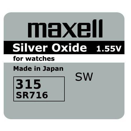 Maxell Bateria srebrowa mini 315 / 314 / sr 716 sw
