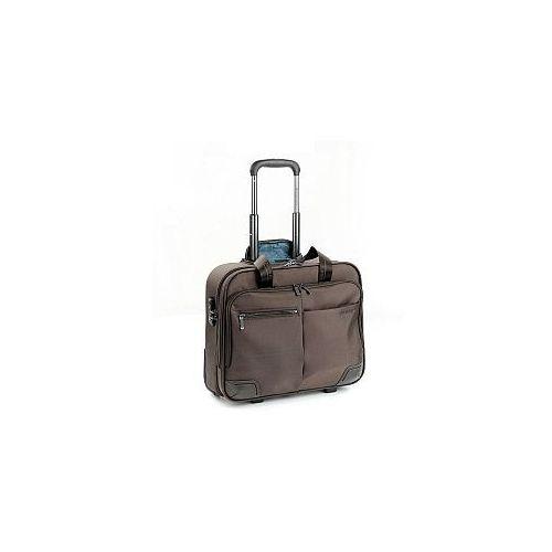 Pilotka biznesowa z kieszenią na laptopa do 15,6' i ubranie, 2 kółka, zamek szyfrowy tsa, nylon, marki kolekcja wall street - kolor brązowy marki Roncato