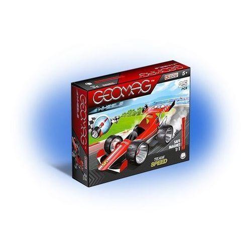 Geomag Wheels Czerwony Team Speed 710, 25 elementów